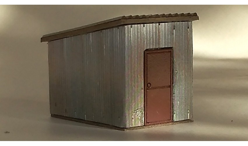 Small Rusted Steel Shed